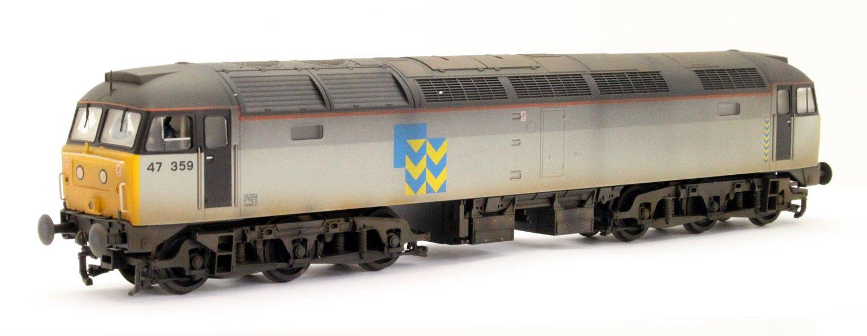 Class 47 359 BR Railfreight Grey (Metal Sector) Diesel Locomotive - Weathered
