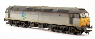 Class 47 359 BR Railfreight Grey (Metal Sector) Diesel Locomotive - Weathered