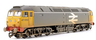 Class 47/0 47050 BR Railfreight Grey Diesel Locomotive Weathered
