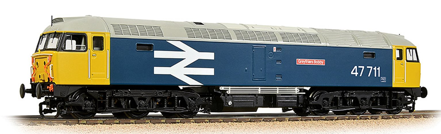 Class 47/7 47711 'Greyfriars Bobby' BR Blue (Large Logo) - DCC Sound