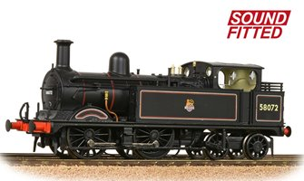 MR 1532 (1P) Tank 58072 BR Lined Black (Early Emblem) DCC Sound