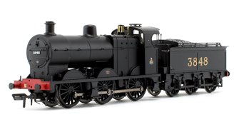 Class 4F Midland Railways Black 0-6-0 Steam Locomotive #3848