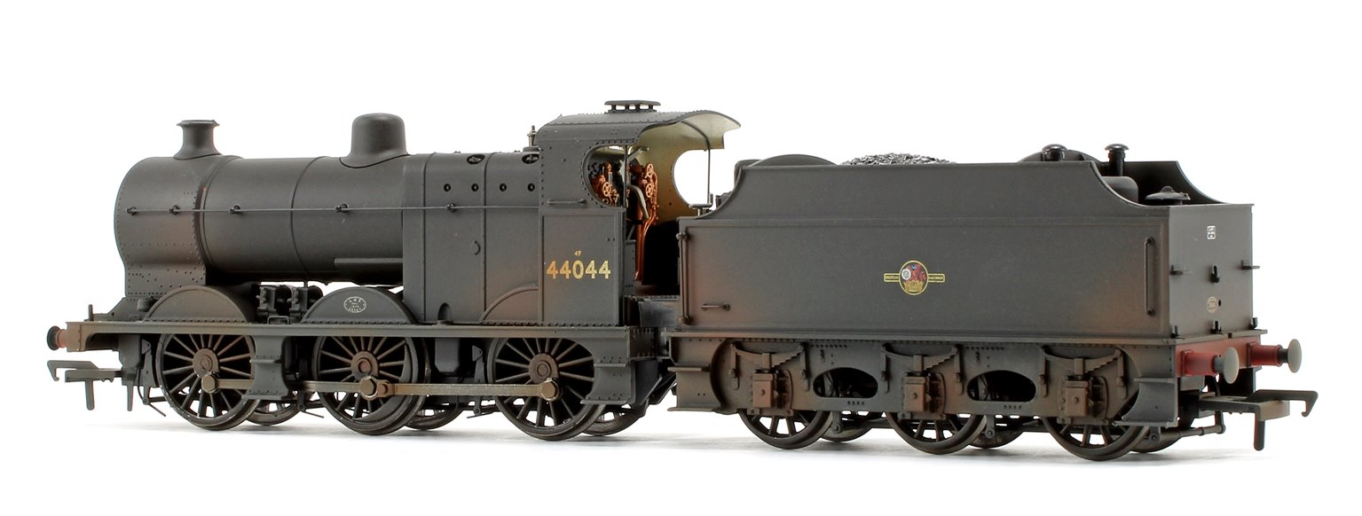 Bachmann Midland Class 4F BR Black Late Crest 0-6-0 Steam Loco 44044 Weathered Edition