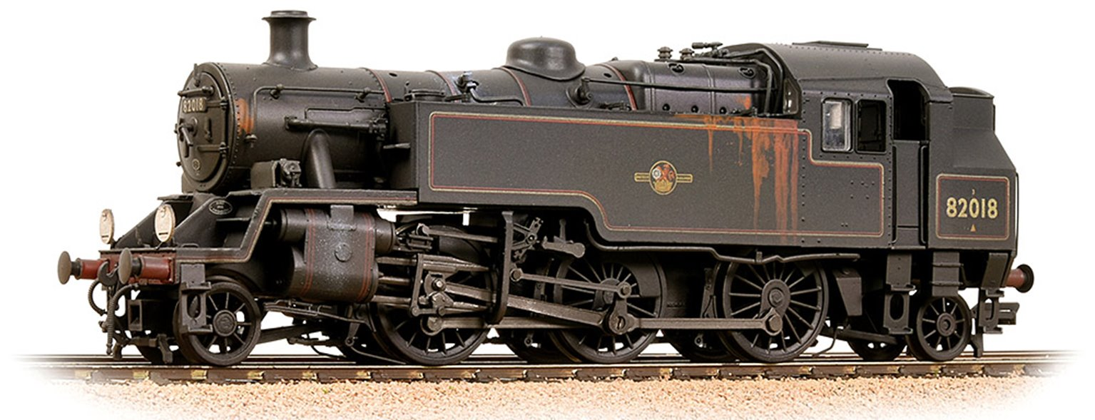 BR Standard 3MT Tank 82018 BR Lined Black (Late Crest) - Weathered