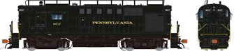 Pennsylvania RR with Trainphone antenna Alco RS-11 Locomotive #8617 (DC Silent)