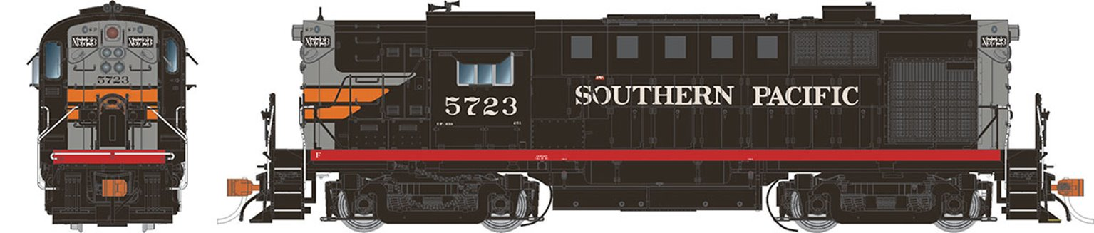 Southern Pacific (Black Widow)  Alco RS-11 Locomotive #5723 (DC Silent)