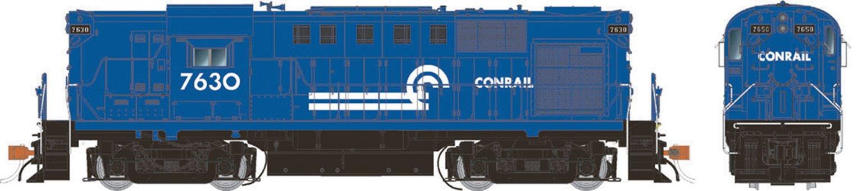 Conrail (blue) Alco RS-11 Locomotive #7630 (DCC Sound)