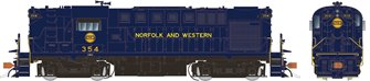 Norfolk & Western (blue with Hamburger logo) Alco RS-11 Diesel Locomotive #354 (DCC Sound)