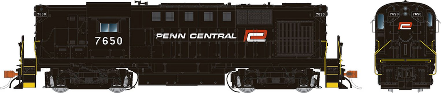 "Penn Central (ex-PRR with red ""P"") Alco RS-11 Locomotive #7650 (DCC Sound)"
