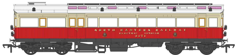North Eastern Railway Electric Autocar No.3171 Red/Cream (1904-30)