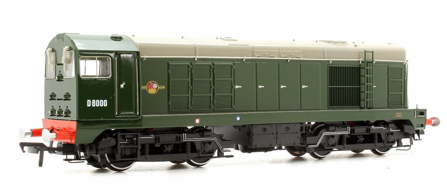 Class 20 - D8000 BR Green (Gloss Finish) Diesel Locomotive (DCC Sound) NRM Special Edition