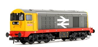 Class 20 156 BR Railfreight Grey Large Logo (Red Solebar) Diesel Locomotive DCC Sound
