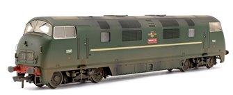 Custom Weathered Class 43 Warship 'Roebuck' BR Green Diesel Locomotive D841