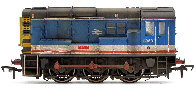 Custom Weathered Class 08 631 'Eagle' Network South East Diesel Shunter Locomotive