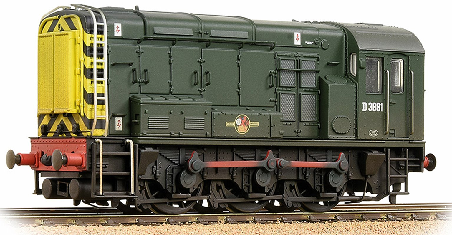 Class 08 D3881 BR Green (Wasp Stripes) - Weathered