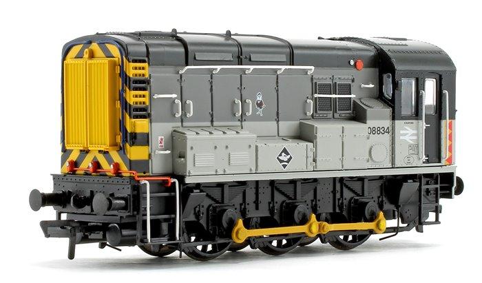 Class 08 834 BR Railfreight Distribution Triple Grey Diesel Shunter Locomotive