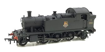 Class 4575 Prairie Tank BR Plain Black Weathered Locomotive 4592