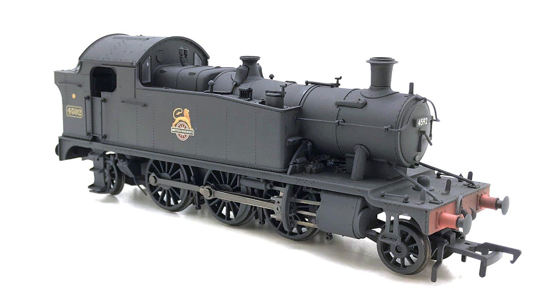 Class 4575 Prairie Tank BR Plain Black Weathered Locomotive 4592
