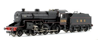 LMS Crab LMS Lined Black Welded tender 2-6-0 Steam Locomotive No.13174