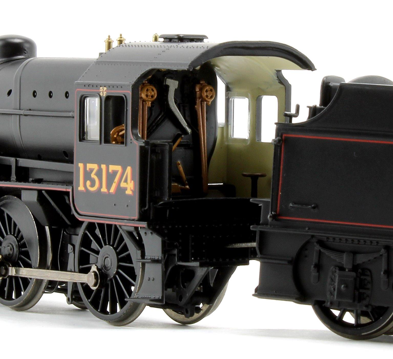 LMS Crab LMS Lined Black Welded tender 2-6-0 Steam Locomotive No.13174