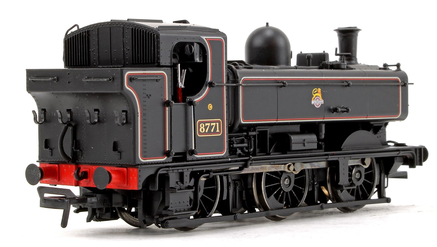 GWR 8750 Pannier Tank BR Lined Black (Early Emblem) Locomotive No.8771