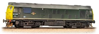Class 25/1 #25043 BR Green Full Yellow Ends - Weathered