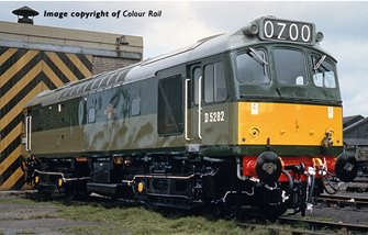 Class 25/2 D5282 in BR Two Tone Green livery with Small Yellow Panel