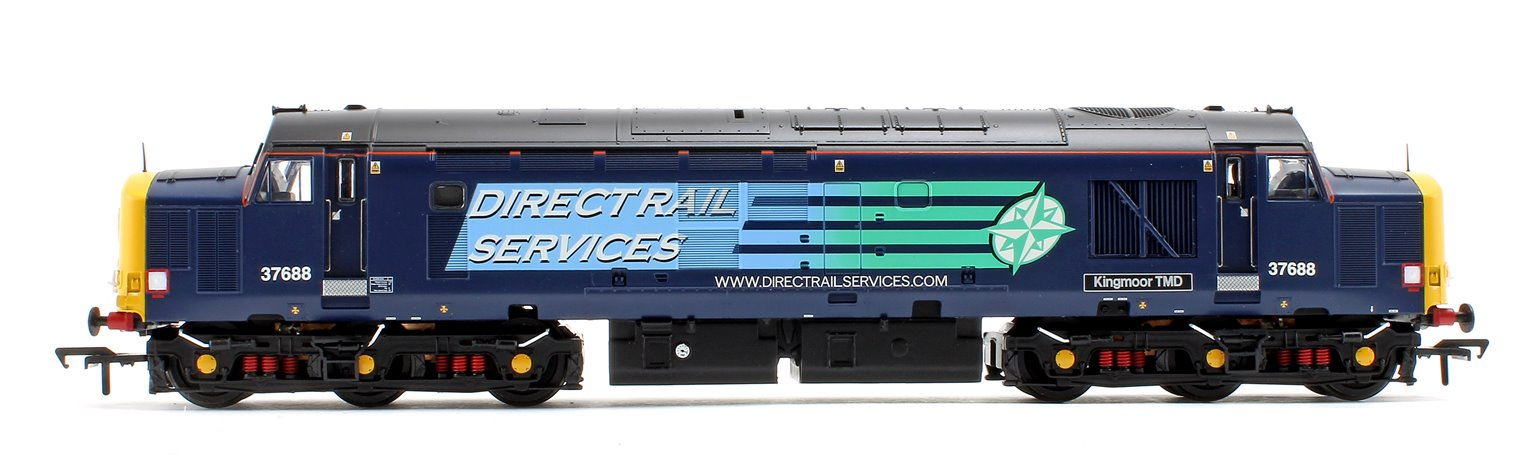 "Class 37/5 37688 ""Kingmoor TMD"" Direct Rail Services Compass Blue Locomotive"