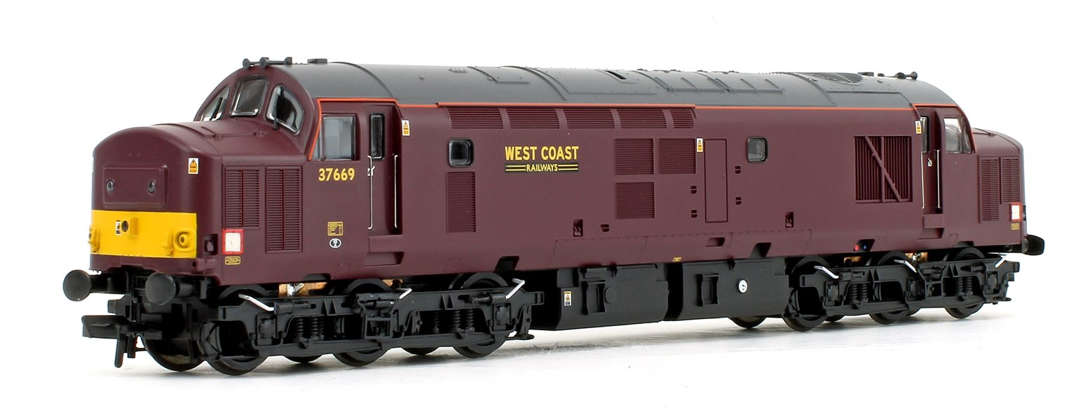 Class 37/5 Refurbished 37669 West Coast Railways WCRC Maroon Diesel Locomotive with DCC Sound