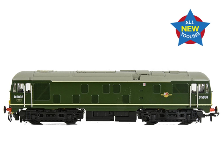 Class 24/0 D5036 Disc Headcode BR Green (Small Yellow Panels)