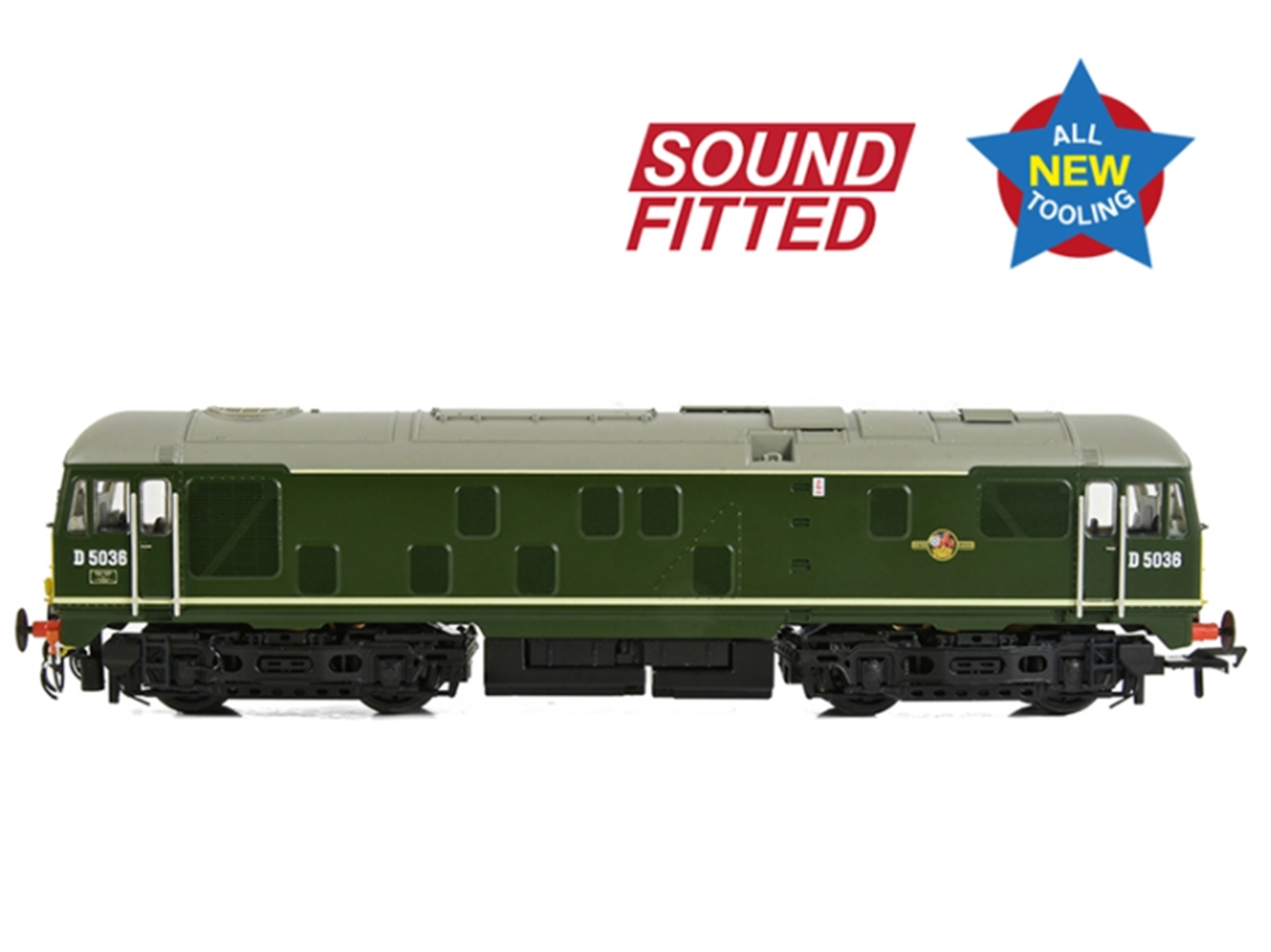 Class 24/0 D5036 Disc Headcode BR Green (Small Yellow Panels) - DCC Sound