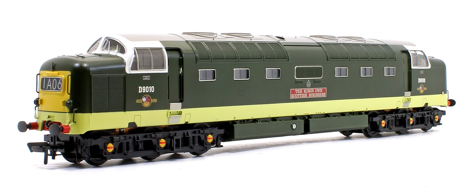 Class 55 'Deltic' D9010 'The King's Own Scottish Borderer' BR Two-Tone Green (Small Yellow Panels)
