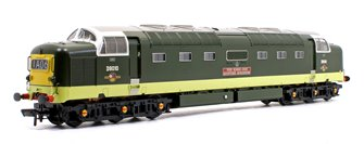 Class 55 'Deltic' D9010 'The King's Own Scottish Borderer' BR Two-Tone Green (Small Yellow Panels) - DCC Sound