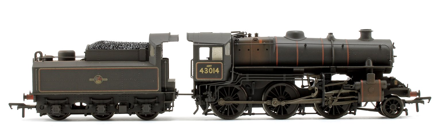 Ivatt Class 4MT BR Black (Weathered) 2-6-0 Steam Locomotive No.43014