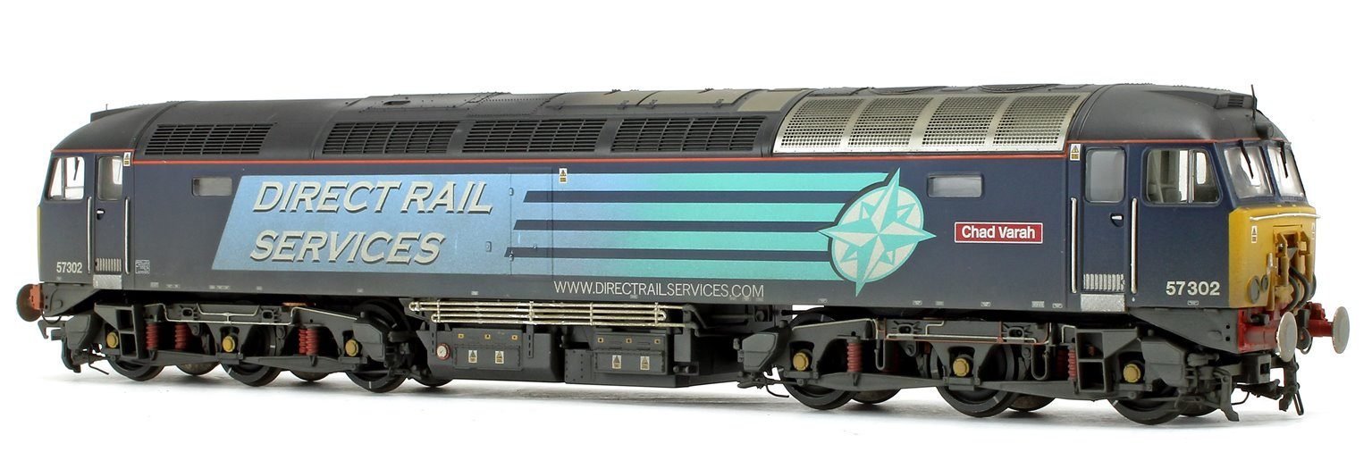Class 57/3 57302 'Chad Varah' DRS Compass Blue  - Weathered Diesel Locomotive