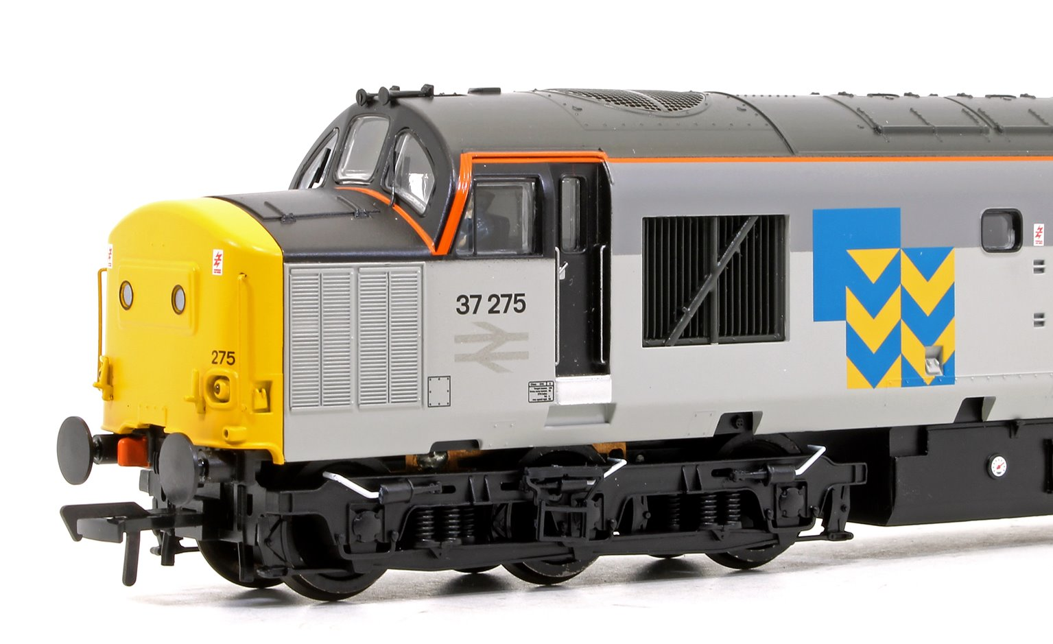 Class 37/0 37275 Stainless Pioneer BR Railfreight Metals Diesel Locomotive