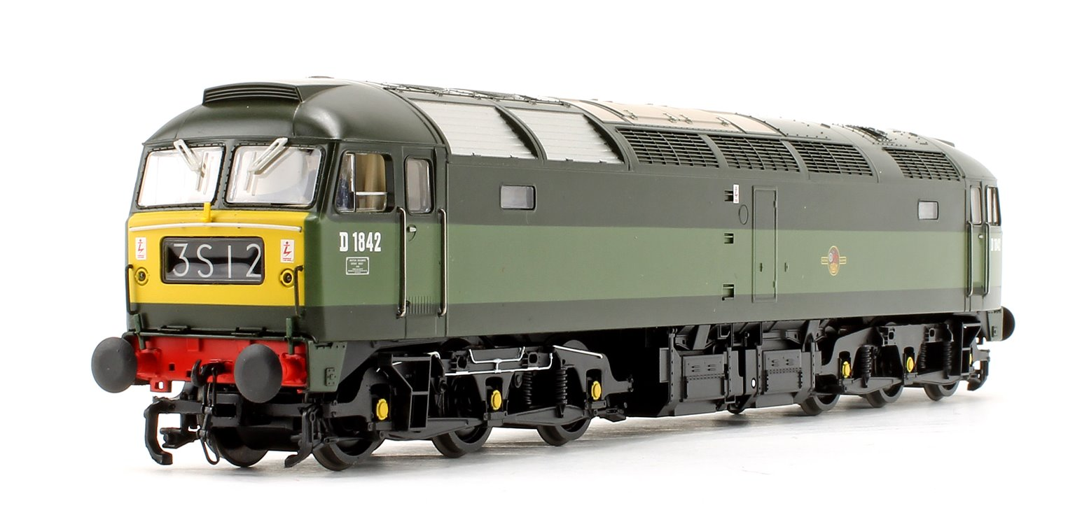 Class 47/0 D1842 BR Two-Tone Green (Small Yellow Panels) Diesel Locomotive