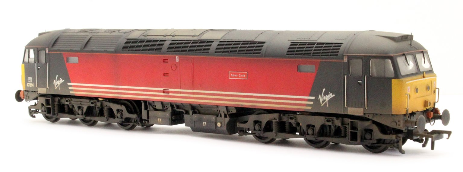 "Class 47/8 47814 ""Totnes Castle"" Virgin Trains Diesel Locomotive - Weathered"