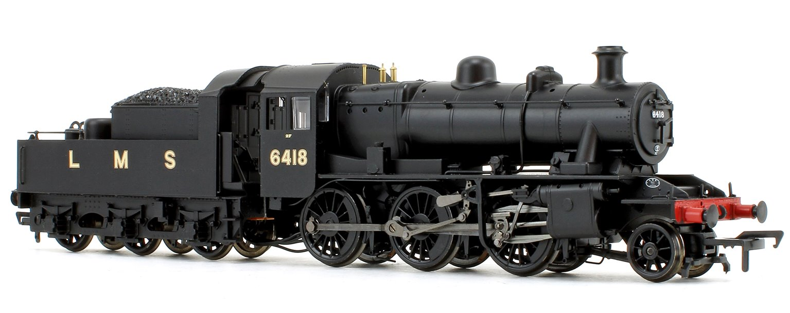 Ivatt Class 2MT LMS Plain Black 2-6-0 Steam Locomotive No.6418
