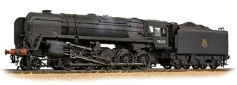 BR Standard 9F with BR1F Tender 92069 BR Black (Early Emblem) - Weathered
