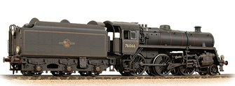BR Standard 4MT with BR1B Tender 76066 BR Black (Late Crest) - Weathered