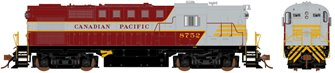 Canadian Pacific (Block Lettering) MLW RS-18 Locomotive #8752 (DC Silent)