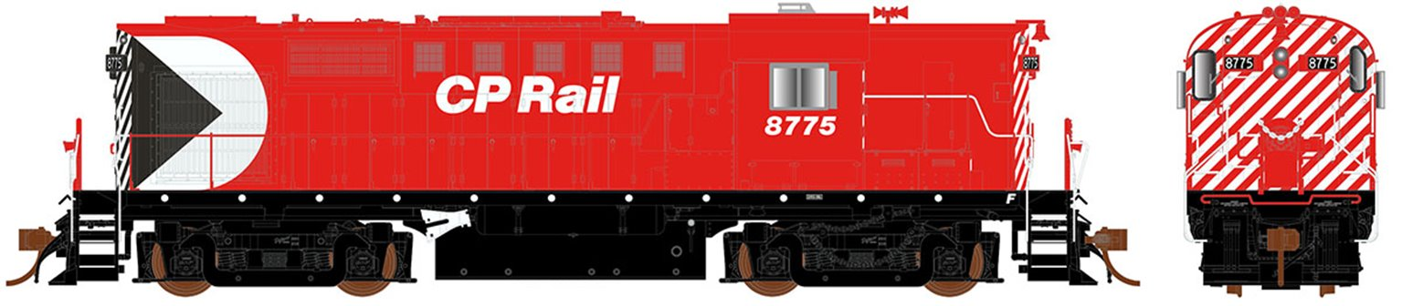 CP Rail Action Red (5″ Stripes) MLW RS-18 Locomotive #8749 (DC Silent)