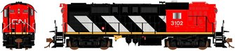 Canadian National (Stripes) MLW RS-18 Locomotive #3102 (DCC Sound)