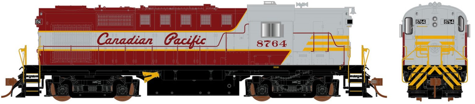 Canadian Pacific (Script Lettering) MLW RS-18 Locomotive #8762 (DCC Sound)