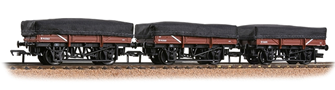 5 Plank China Clay 3-Wagon Pack BR Bauxite (Early) With Tarpaulin Covers