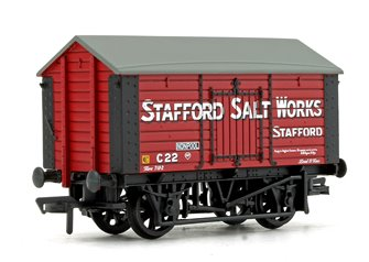 10T Covered Salt Wagon 'Stafford Salt Works' Red