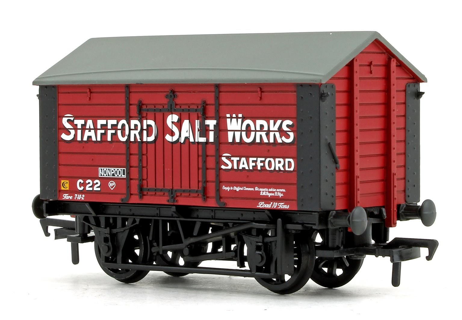10T Covered Salt Wagon 'Stafford Salt Works' Red