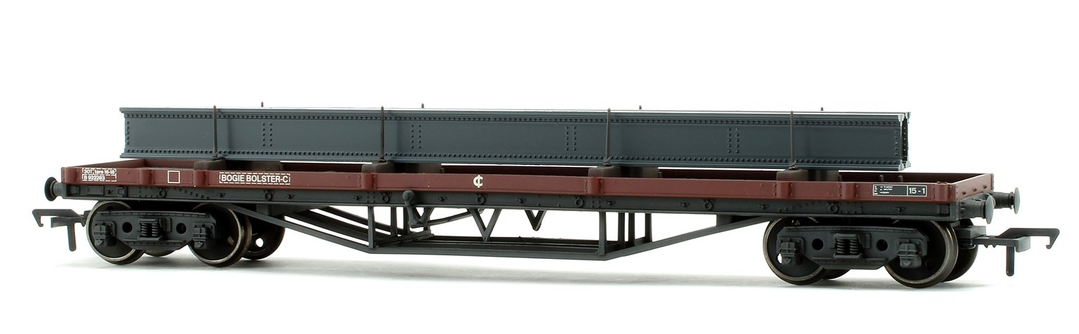 30 Ton Bogie Bolster Wagon BR Bauxite Weathered with load