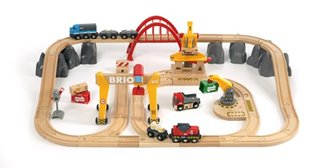 BRIO WORLD - Cargo Railway Deluxe Set